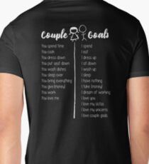 Couple Goals (Female, White Font) T-Shirt