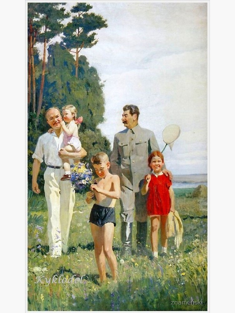 Stalin and Molotov with children, 1947. Artist: Yefanov, Vasili Prokofyevich (1900-1978) Stalins cult of personality #Сталин #ИосифВиссарионович #Ежов #Берия #Жданов #Молотов #Ленин #ГУЛАГ by znamenski