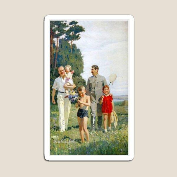 Stalin and Molotov with children, 1947. Artist: Yefanov, Vasili Prokofyevich (1900-1978) Stalins cult of personality #Сталин #ИосифВиссарионович #Ежов #Берия #Жданов #Молотов #Ленин #ГУЛАГ Magnet