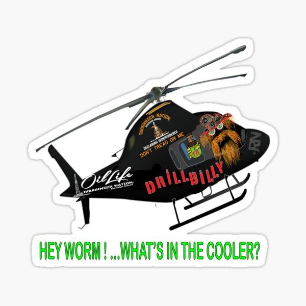 Drillbilly Copter Sticker