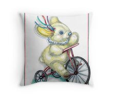 Pooky Trike Throw Pillow