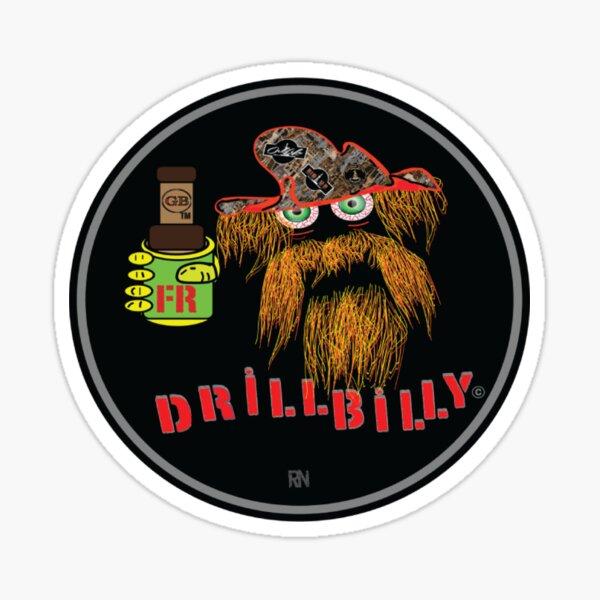 Drillbilly Red Sticker