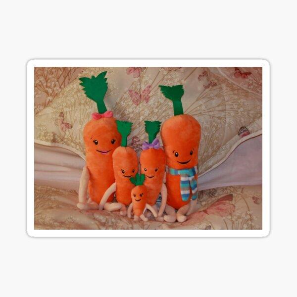 Carrot Family ( Kevin, Katie, Chardonnay, Jasper & Baby Carrot ),  Sticker