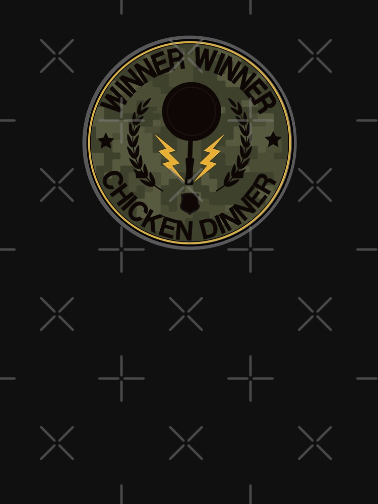 Chicken Dinner Frying Pan Military Badge by inexhale
