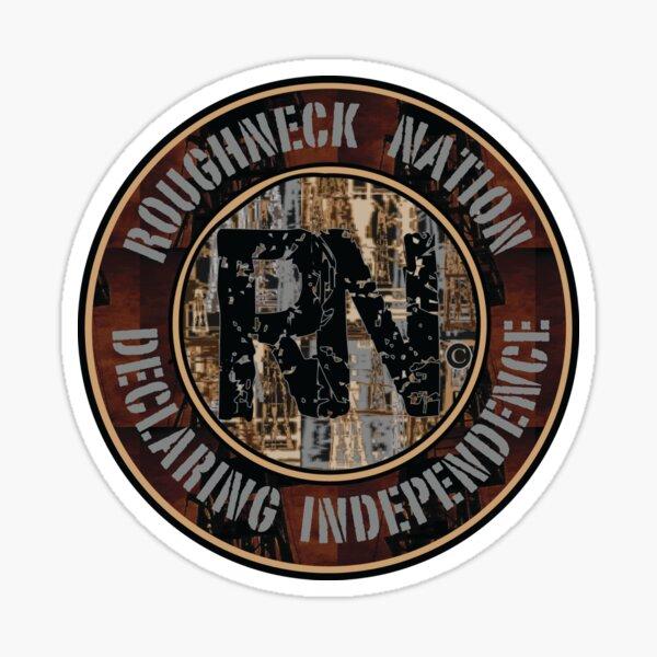 Roughneck Nation Camo Logo Sticker