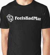 Feels Bad Man D20 Dice Dungeons and Dragons Inspired DnD D&D Graphic T-Shirt
