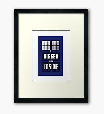 It's Bigger on the Inside Framed Print
