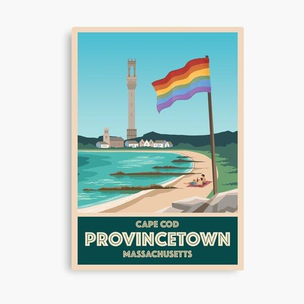 Provincetown Vintage Travel Poster Canvas Print