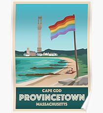 Provincetown Vintage Travel Poster Poster