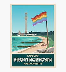 Provincetown Vintage Travel Poster Photographic Print