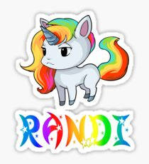 Randi Unicorn Sticker