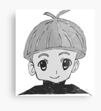 Small Manga Boy. Metal Print
