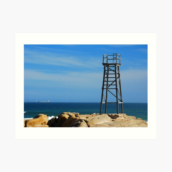 Shark Tower - Redhead Beach NSW Art Print
