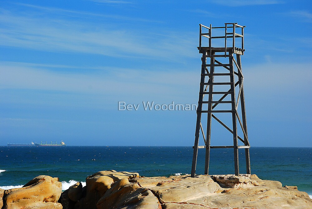 Shark Tower - Redhead Beach NSW by Bev Woodman