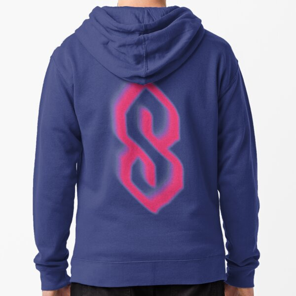 Logotipo de Super S Stussy Sudadera con capucha y cremallera