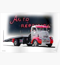 1941 Chevrolet COE Car Carrier Poster