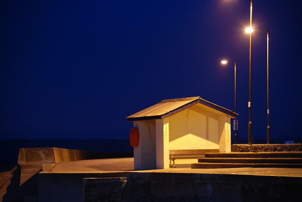 Sea fron at night by Andrew Chittock