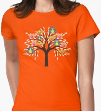owl tree T-shirt  Womens Fitted T-Shirt