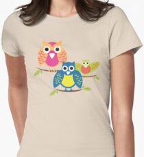 owls branch T-shirt  Womens Fitted T-Shirt