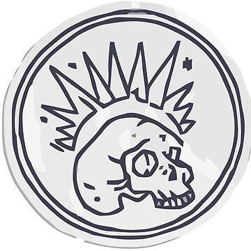 Life is Strange: Before the Storm - Chloe's Skull Sticker by scolecite