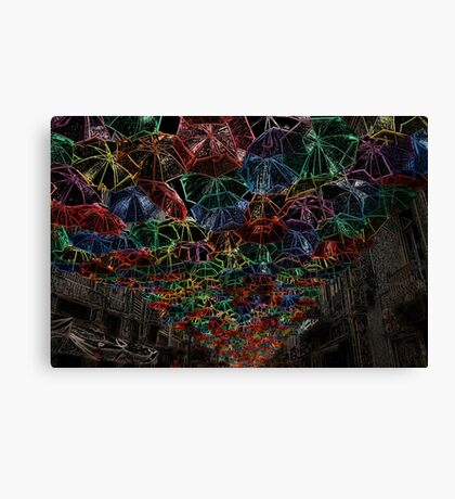 Umbrella Colors Canvas Print