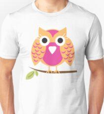 pink owl T-shirt  Unisex T-Shirt