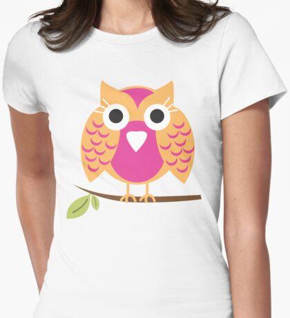 pink owl T-shirt  T-Shirt