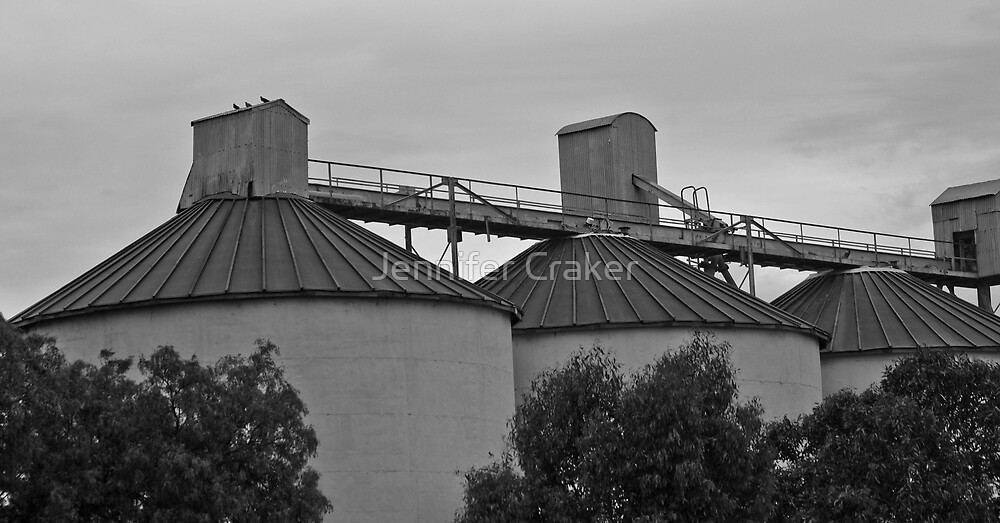 Old Wheat Silo at Rupanyup by Jennifer Craker