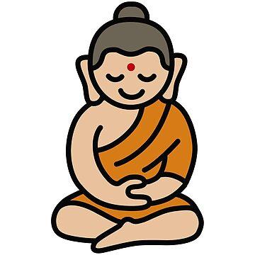 Buddha Cartoon by LaundryFactory