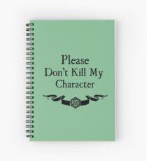Cuaderno de espiral Por favor no mates a mi personaje