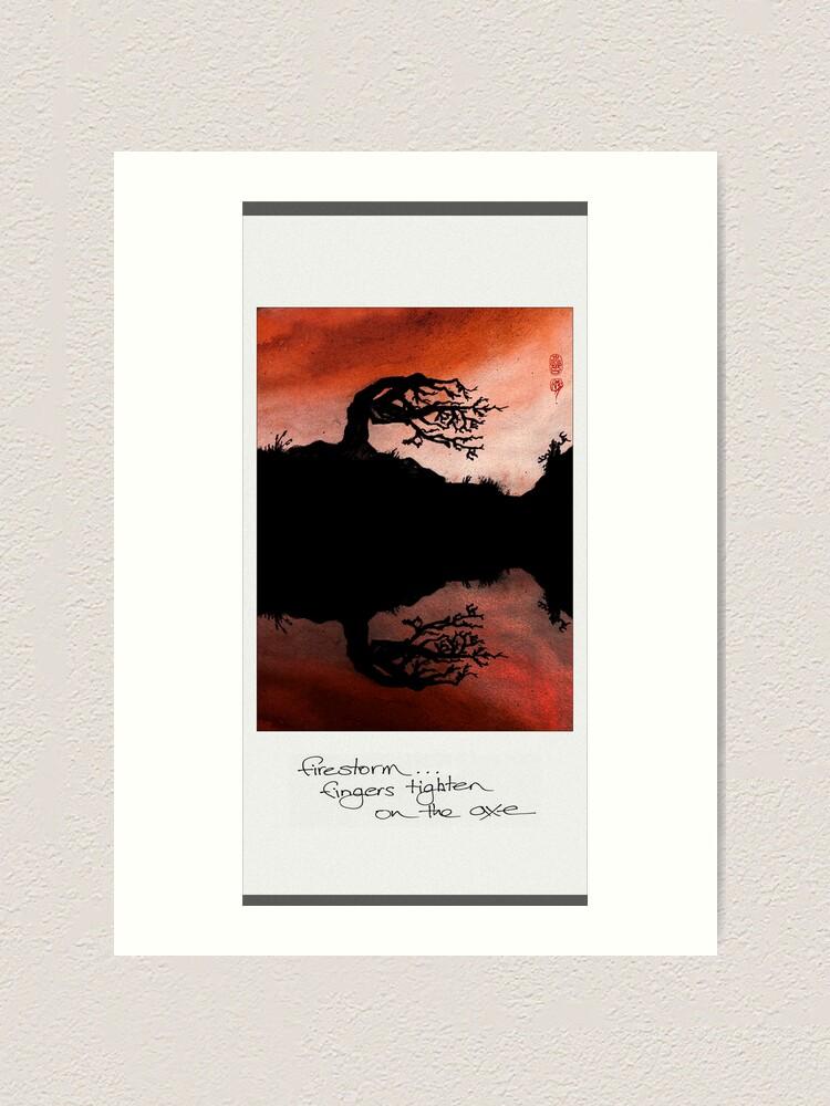 Alternate view of firestorm Art Print