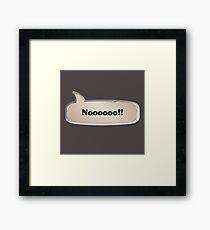 No Emote Framed Print