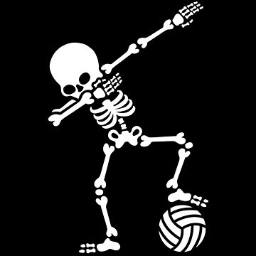 Dab dabbing skeleton (beach) volleyball by LaundryFactory