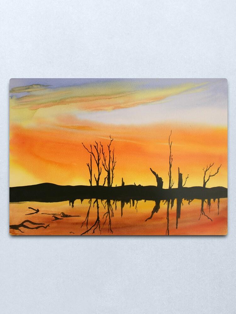 Alternate view of Flooded Lake Metal Print