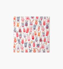 Reindeers - Animal cuteness - Winter watercolor pattern - Rudolph Art Board