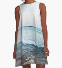 Calm ocean waves A-Line Dress