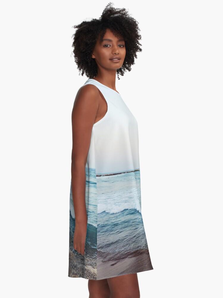 Alternate view of Calm ocean waves A-Line Dress