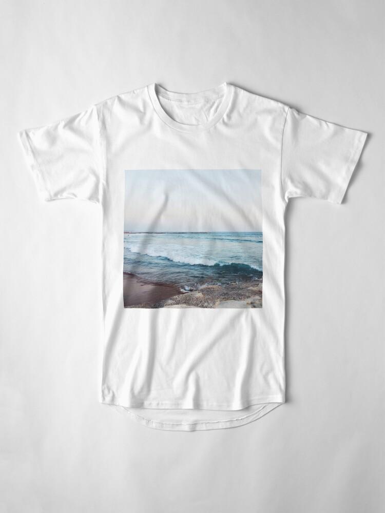 Alternative Ansicht von Ruhige Meereswellen Longshirt