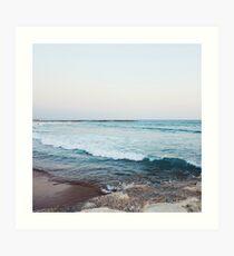 Ruhige Meereswellen Kunstdruck