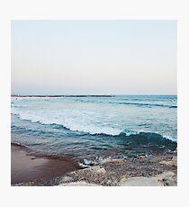 Lámina fotográfica Olas tranquilas del oceano