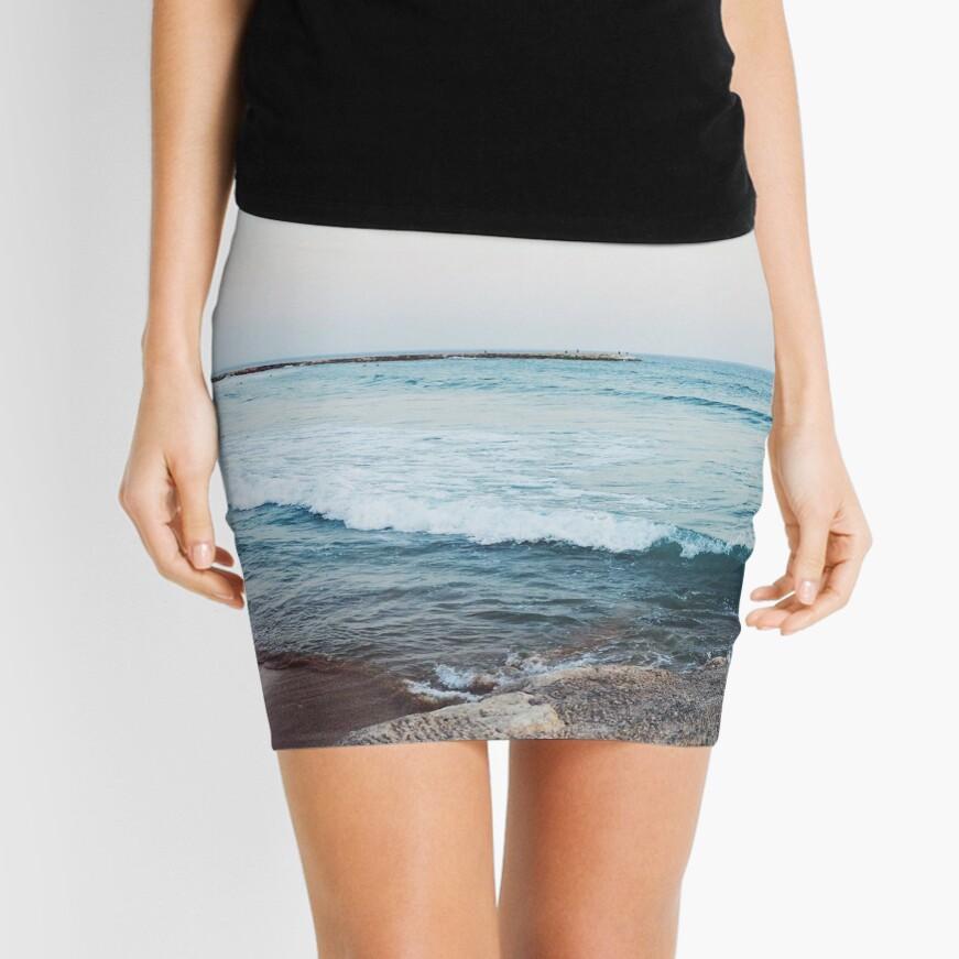 Calm ocean waves Mini Skirt