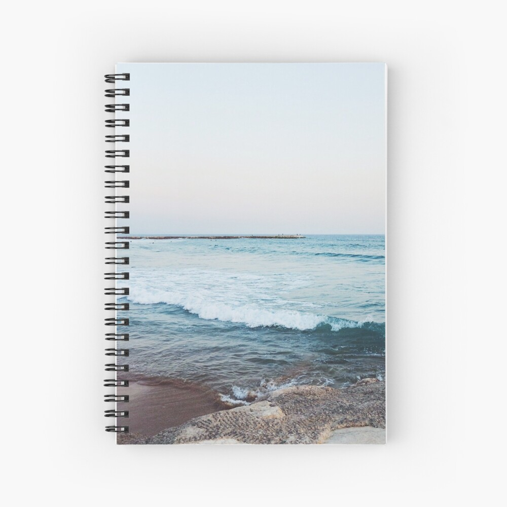 Calm ocean waves Spiral Notebook
