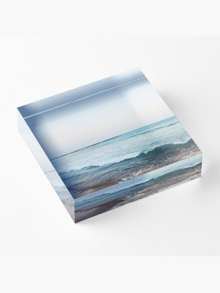 Alternate view of Calm ocean waves Acrylic Block