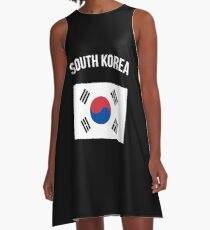 South Korea Flag A-Line Dress