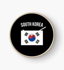 South Korea Flag Clock