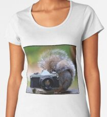 Grey squirrel Photographer  Women's Premium T-Shirt
