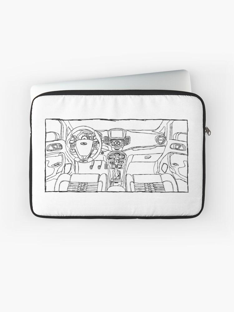 Ford Fiesta St Interior Sketch Art Laptop Sleeve