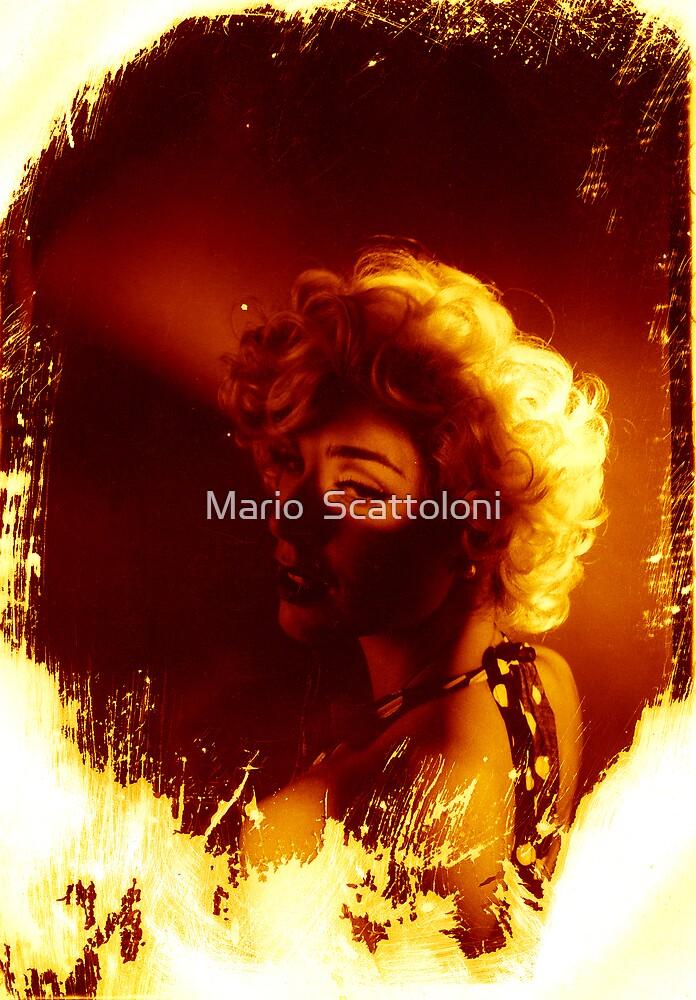 Devon Green as Marilyn Munroe by Mario  Scattoloni