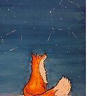 Fox beneath the stars by Shadow2142