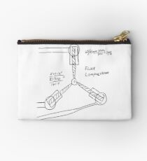Flux Capacitor Drawing - Dark Studio Pouch